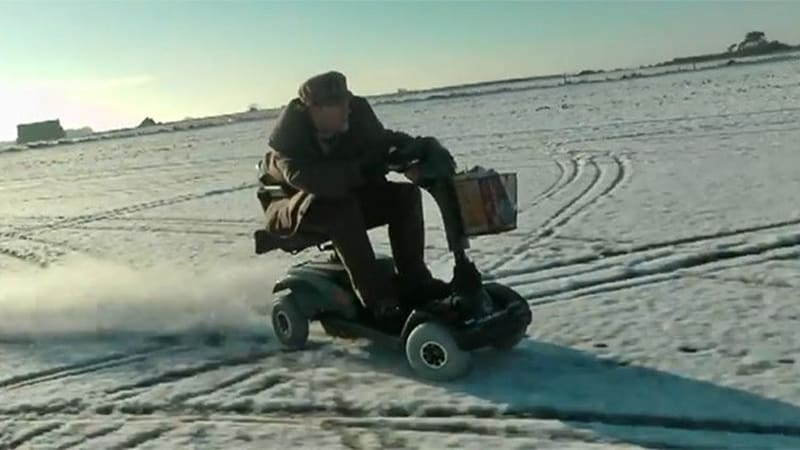 70-mph mobility scooter on ice is one hot little rascal | Autoblog