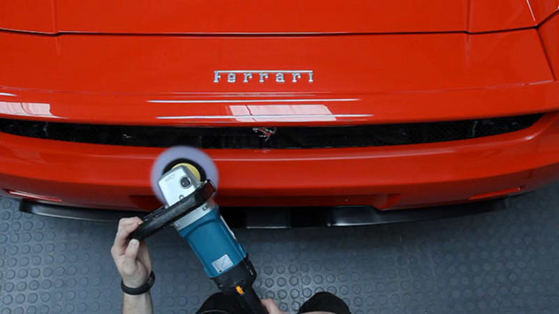 High-end video of high-end detail job on high-end Ferrari | Autoblog
