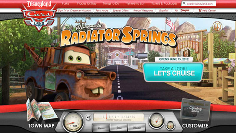 Disney launches Cars Land microsite ahead of June 15 ...
