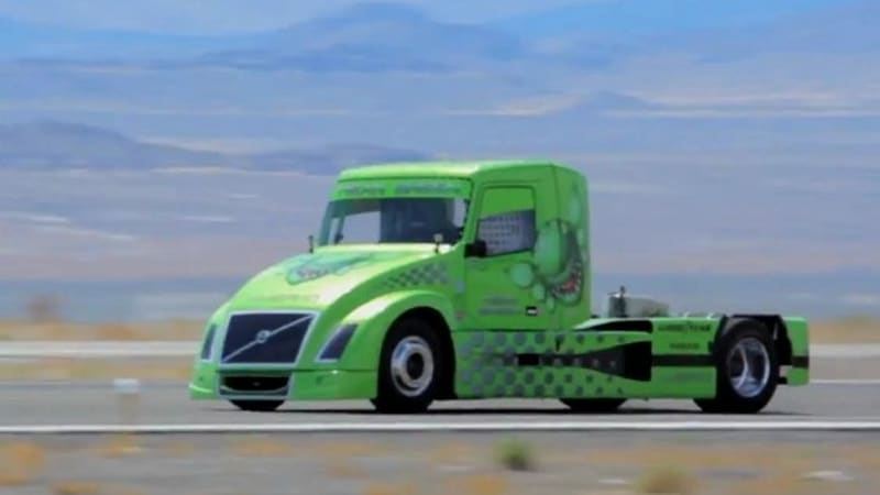 Watch Volvo S Hybrid Semi Truck Set A Land Sd Record