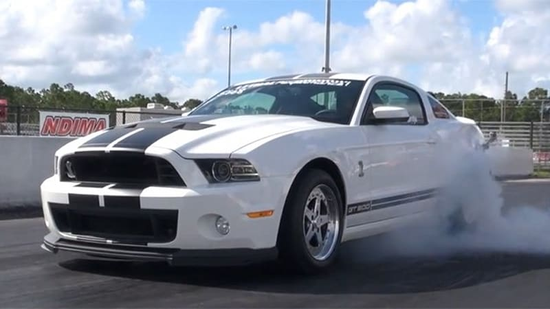 Watch this 2013 Ford Shelby GT500 pull a 9-second quarter mile ...