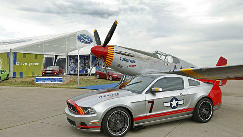Ford Unveils Red Tails Edition Mustang Gt W Video Autoblog