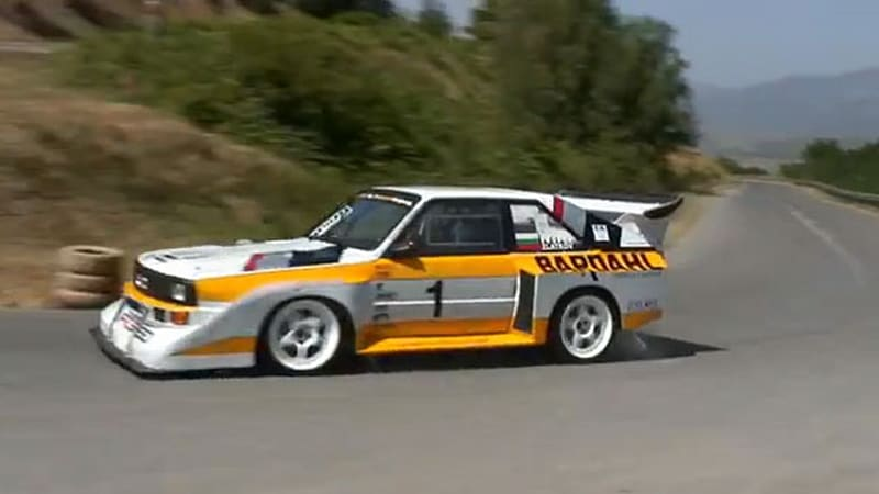watch this audi s1 group b racer tear up the kyustendil. Black Bedroom Furniture Sets. Home Design Ideas