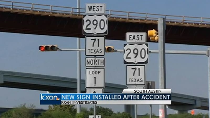 Texas DOT refuses to pay for damage when road sign falls on SUV
