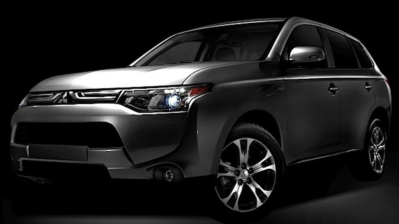 mitsubishi previews 2014 outlander and 2013 outlander. Black Bedroom Furniture Sets. Home Design Ideas
