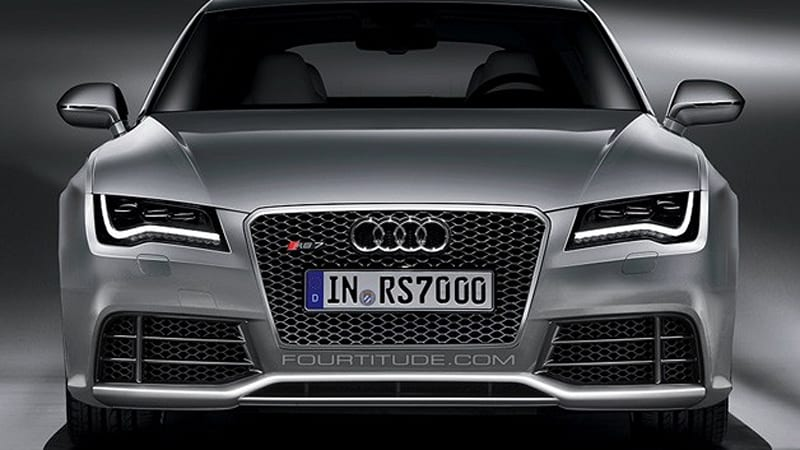 rendered speculation audi rs7 looks sinfully sweet autoblog. Black Bedroom Furniture Sets. Home Design Ideas