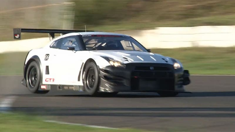 2013 nissan gt r nismo gt3 gets shaken down autoblog. Black Bedroom Furniture Sets. Home Design Ideas