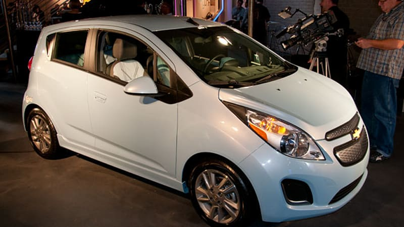 2014 chevrolet spark ev makes first appearance in la autoblog. Black Bedroom Furniture Sets. Home Design Ideas