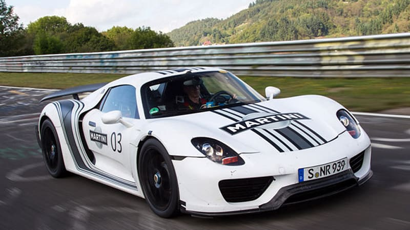 Porsche 918 Spyder officially priced from 845K Weissach package