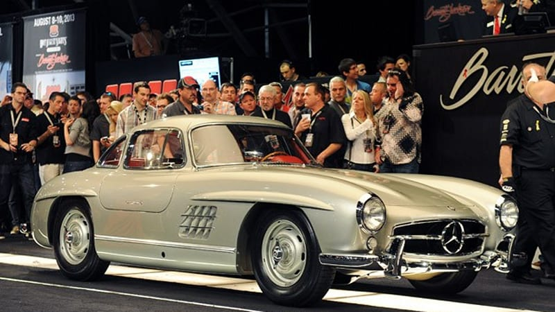 clark gables 1955 mercedes benz 300sl gullwing doesnt sell then does sell for 185 million update wvideo autoblog
