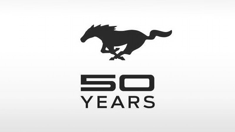ford unveils mustang 50th anniversary logo plans
