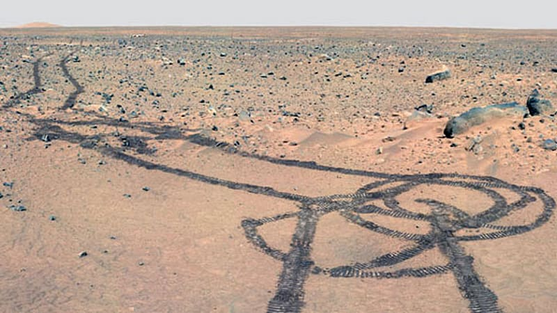Mars Rover draws giant phallus on Red Planet