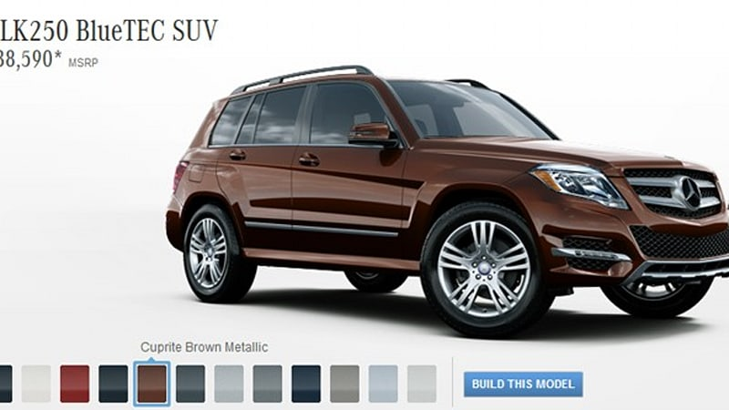 2013 mercedes benz glk250 bluetec gets 33 mpg priced from for Mercedes benz mpg