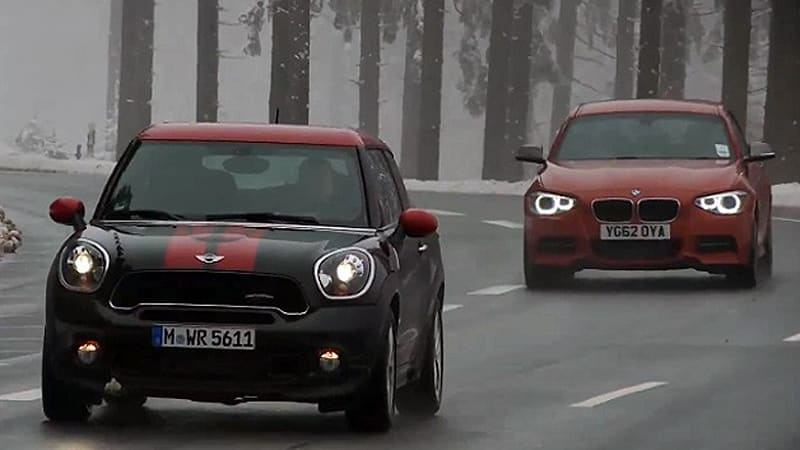 Mini JCW Paceman vs. BMW M135i in family faceoff