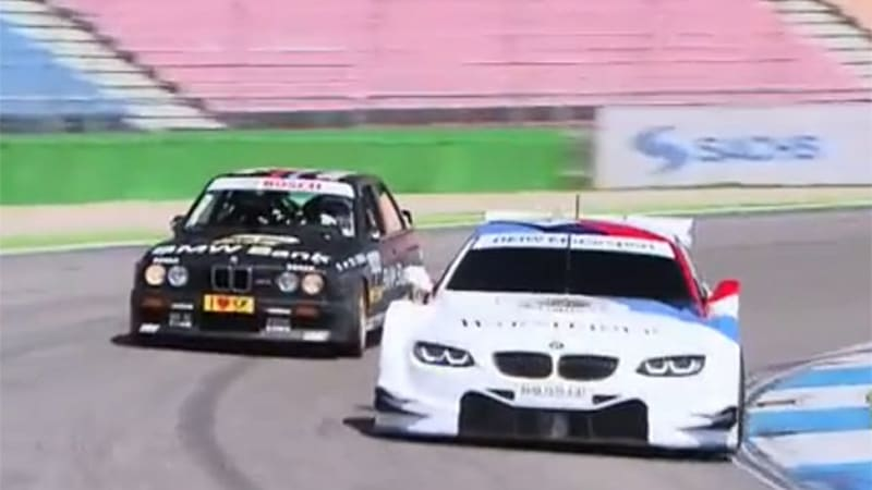 Watch two championship-winning DTM cars from BMW go head-to-head