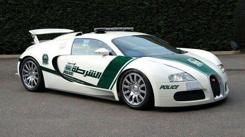 Of course, Dubai Police add Bugatti Veyron to fleet