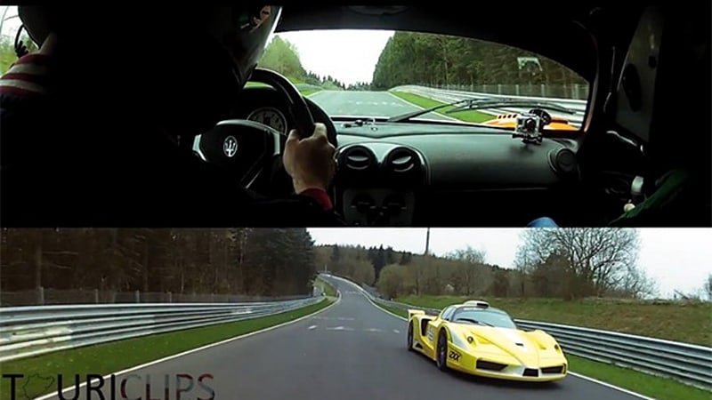 Watch Edo Competition pit a Ferrari FXX against a Maserati MC12 Corsa on the 'Ring