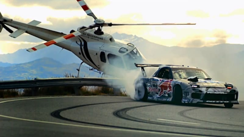 Red Bull RX-7 goes drift crazy on New Zealand's Crown Range