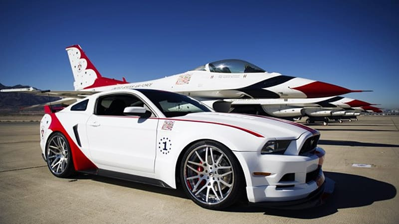 Ford Builds Usaf Thunderbirds Edition Mustang For Charity Autoblog