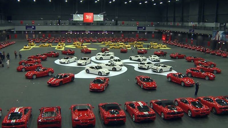 Ferrari celebrates at hong kongs asia world expo autoblog every era of the famed automakers production celebrated 30 years of presence in hong kong with a gathering at the asia world expo this past weekend gumiabroncs Choice Image