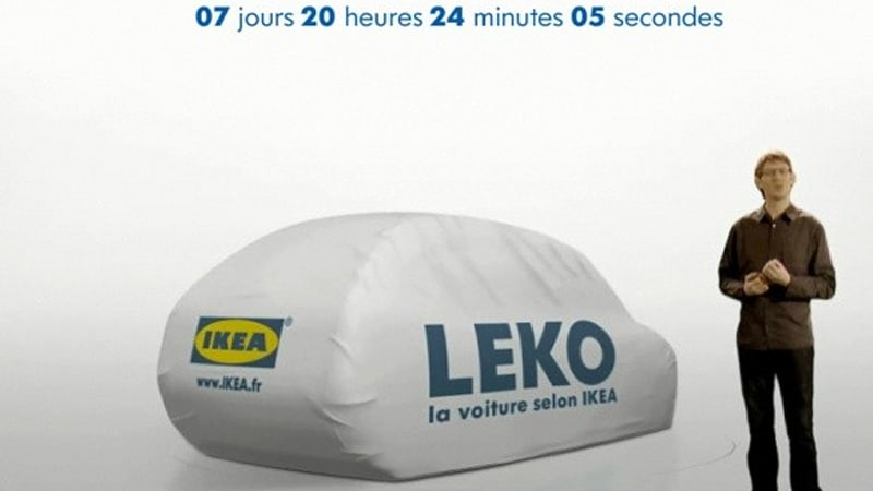 Eco Friendly Car Coming From Ikea