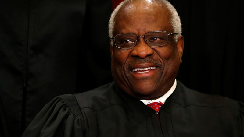 Supreme Court Justice Thomas drives a 40-foot bus around the country