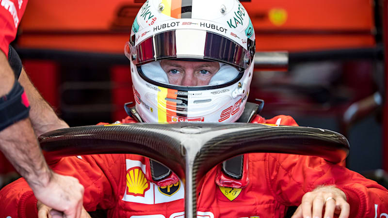 Sebastian Vettel says he's struggling with his Ferrari in Silverstone