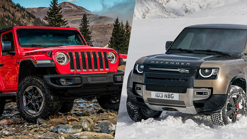 2020 Land Rover Defender specs compared to Jeep Wrangler