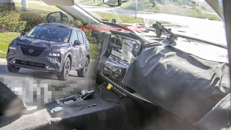 2021 nissan rogue spied inside and out with minimal