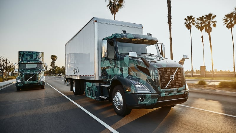 Driving the Volvo VNR Electric semi from Volvo Trucks
