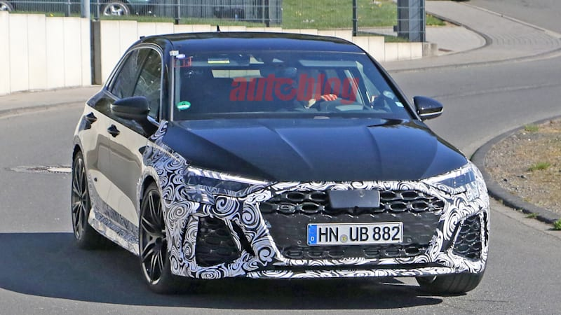 2021 Audi RS 3 spied with big blistered fenders