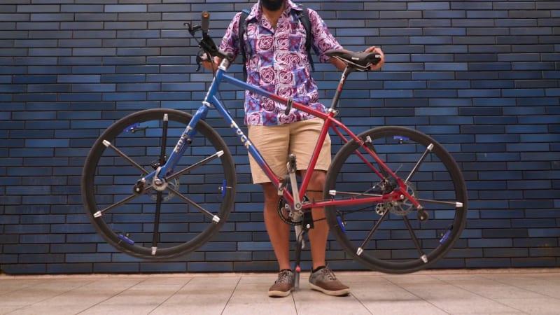 The Tuck Bike has full-sized foldable wheels