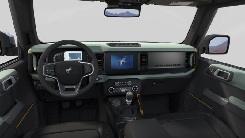 2021 ford bronco interior color combinations revealed