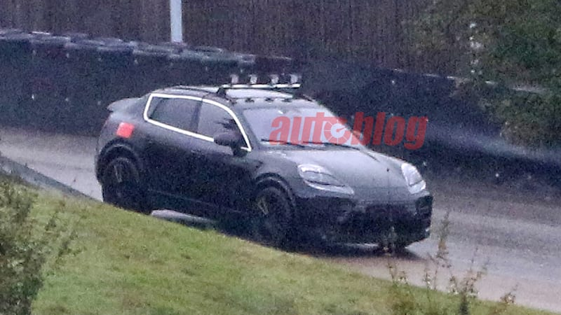 Porsche Macan EV shows off Taycan-inspired design in spy photos
