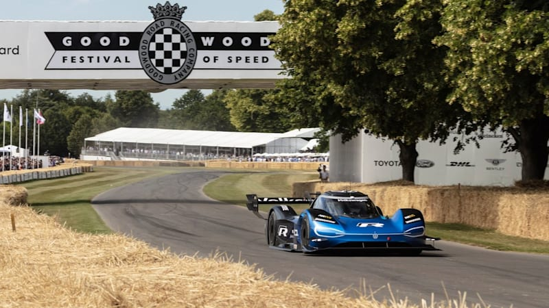 Watch the VW ID.R break a 20-year-old record at Goodwood