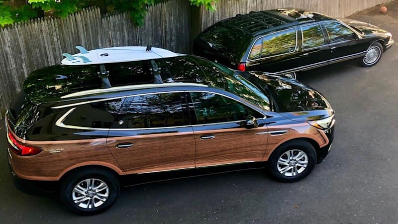 News anchor swaps his Roadmaster for a custom Buick Enclave Woody - Autoblog