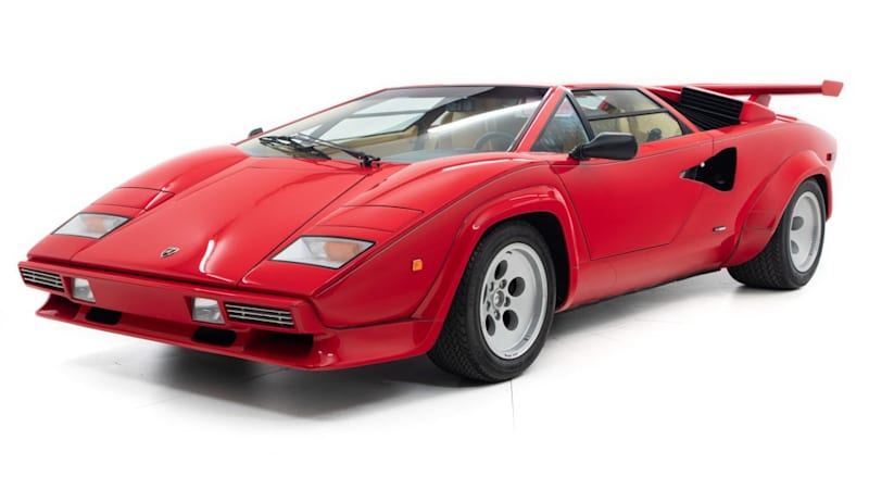 Drive like Mario Andretti: His '84 Lamborghini Countach is for sale