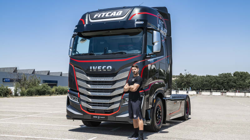 Iveco Fit Cab turns a big rig into a little gym