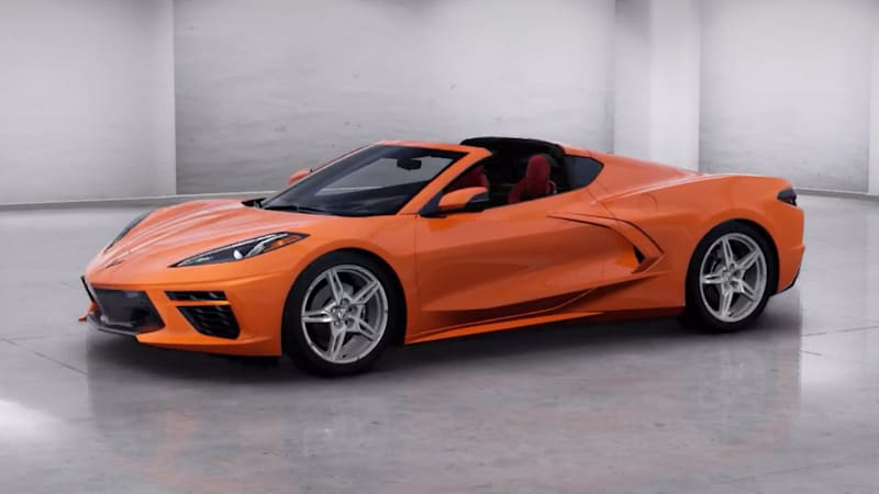 2020 Chevrolet Corvette C8 coupe standard and optional features of