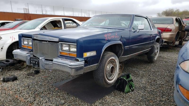 junkyard gem 1981 cadillac eldorado with v8 6 4 engine autoblog junkyard gem 1981 cadillac eldorado