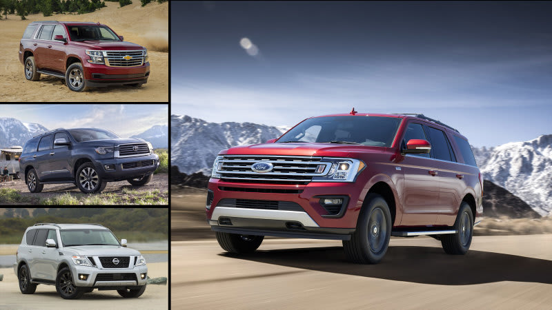 Ford Expedition, Chevy Tahoe, Toyota Sequoia and Nissan Armada