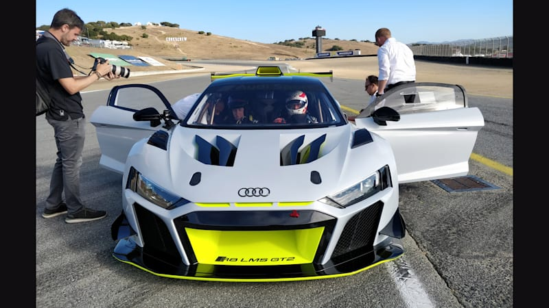 Audi R8 Lms Gt2 Tackles Laguna Seca During Its First