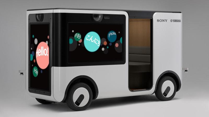 Sony, Yamaha to launch autonomous EV made of big-screen TVs