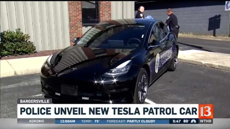 Indiana police department swaps Dodge Charger for Tesla