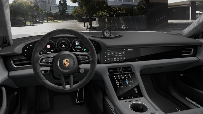 2020 Porsche Taycan grey Race-Tex interior