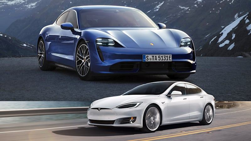 Porsche Taycan Versus Tesla Model S Comparing These Performance Evs Autoblog