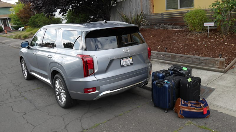 Vehicles With 3rd Row Seating >> 2020 Hyundai Palisade Luggage Test How Much Fits In The
