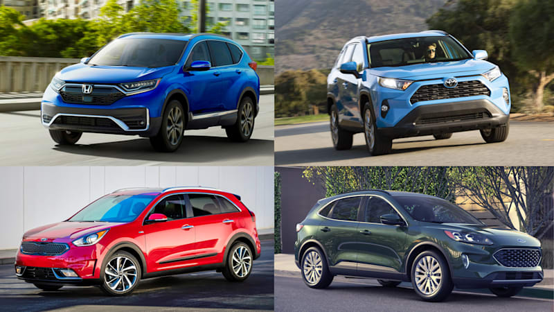 2020 Honda Cr V Hybrid Vs Toyota Rav4 Hybrid Vs 2020 Ford