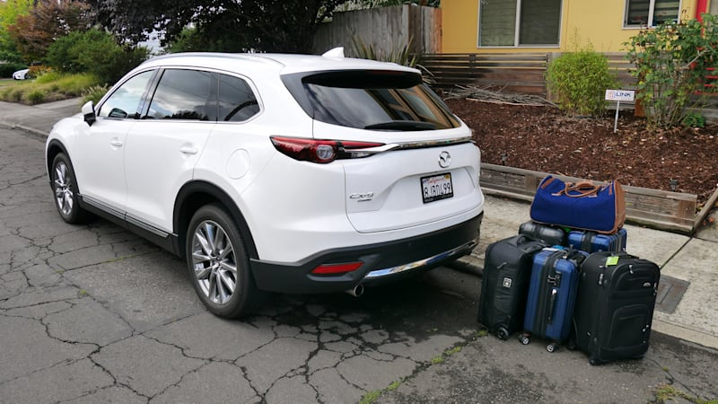Mazda Cx 9 Luggage Test How Much Fits In The Cargo Area