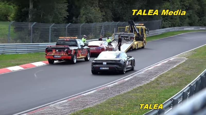 Porsche Taycan laps Tesla Model S prototype in Nurburgring